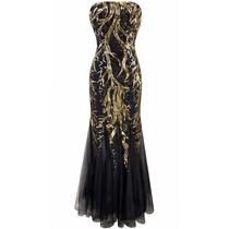 Vestido Sereia Ouro Luxo Importado Pronta Entrega No Brasil