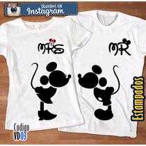 Franelas De Minnie Y Mickey Enamorados, Dia Del Amor