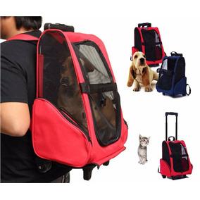 Mochila Bolsa Rodinhas Transporte Passeio Caes Gato Pet Bag