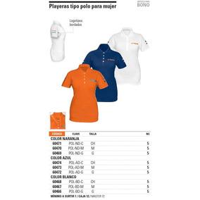 Playera Polo Naranja Dama G Bordada Clave Pol-nd-g 60469