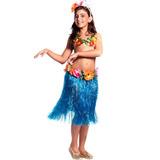 Fantasia Havaiana Luxo Infantil