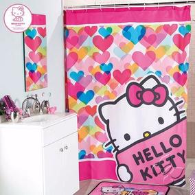 Cortina De Baño Hello Kitty Color Infantil Niña Envio Gratis