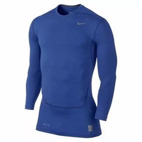 dc5e7d549 Camiseta Nike Pro Combat Manga Longa Azul - Storemarino