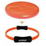 Kit Balance Disco De Equilíbrio C/ Bomba + Anel De Pilates
