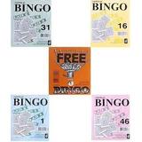 2.500 Cartelas Coloridas (8cm X 10cm) P/ Bingos De 75 Bolas
