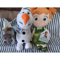 3 Pelúcias Anna Frozen Baby C/30cm Disney+olaf C/30 E Sven20