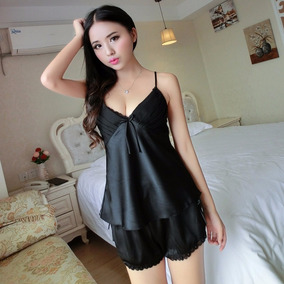 Pijama Coordinado Satinado Kawaii Moda Coreana Sexy Mod.275