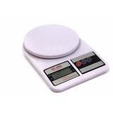Pesa Bascula Gramera Digital Precisión 7000 Gr 7kg Blanco