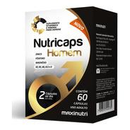 Nutricaps Homem - Aumento Testosterona - Maxinutri - 60 Cáps