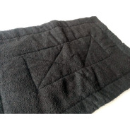 Tapete Banheiro Atoalhado 33×48cm Com Manta Acrílica Preto