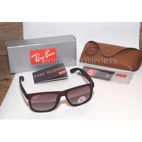 4a46a1b0f6632 Ray Ban Justin Marrom Fosco - Óculos De Sol no Mercado Livre Brasil