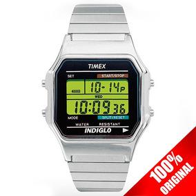 Reloj Digital Timex Clasico T78582 Plata Expansible Acero