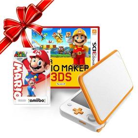 Consola Nintendo 2ds Xl+ Mario Maker 3 + 1 Amiibo Mario