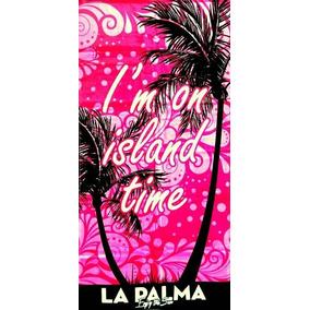 Toalha De Praia Island T La Palma Rosa 76 X 152cm