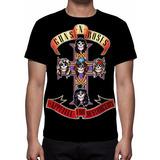 Camiseta Guns N Roses Appetite For Destruction Frete Grátis