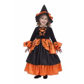 Disfraz Vestido Niña Bruja Talla 8-10 Nuevo Hallowen