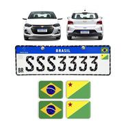 Adesivos Bandeiras Placa Nova Brasil Estados Resinados