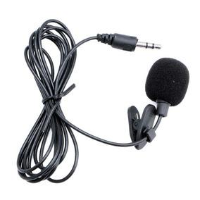 Microfone Lapela Stéreo Profissional 3.5m Gravação Video P2