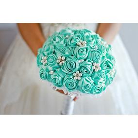 Buque De Noiva Azul Tiffany Várias Cores