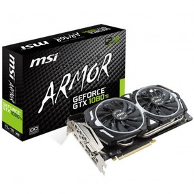 Placa De Vídeo Msi Geforce Gtx1080 Ti Armor 11gb Oc S/ Juros