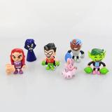 Teen Titans Jovens Titãs Ravena Robin Mutano Cyborg Estelar