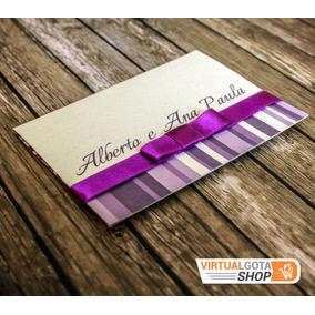 5 Convites De Casamento Roxo E Lilás Barato Simples E Bonito