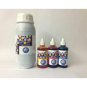 Tinta Epson Negro Ati Sellada 500ml + 3 Colores De 60ml