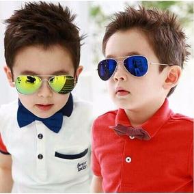 Lente Estilo Aviador Niño Elegante Fashion Proteccion Uv Tie