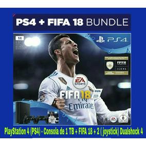 Playstation 4 (ps4) - Consola De 1 Tb+Fifa 18+2 Joystick