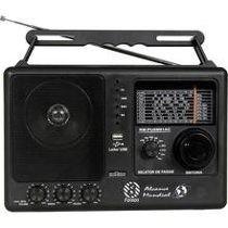 Rádio Portátil Motobras 8 Faixas Rm-pusm81ac Am/fm Usb/sd