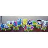 Kit 10 Galinha Pintadinha De Mesa,display,festa Infantil,mdf