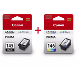 Pack Tintas Canon 145, 146 Negra Y Color Originales