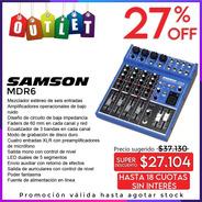 Consola Mixer Samson Mdr6 6 Canales Envio De Outlet