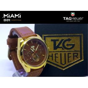 Relógio Masculino Dourado Prata Relógio Top Na Caixa