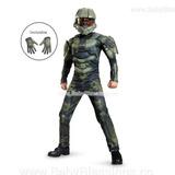 Disfraz Master Chief Musculoso 4-8 Halo Con Guantes