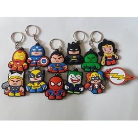 Chaveiro De Borracha Super Heróis Vingadores
