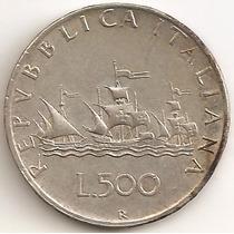 Italia, 500 Lire, 1959. Plata. Xf-