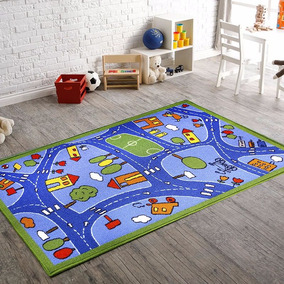 Tapete Infantil Child Rug Azul 100x140 Cm