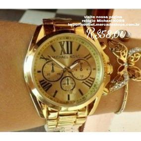 Relógio Feminino Mk Dourado Frete Grátis Barato Imperdivel