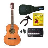 Gracia M3 Combo Guitarra Clasica + Funda + Afinador + Acc