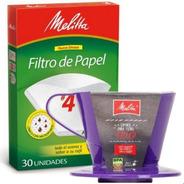 Porta Filtros Cafe Para Colar Cafe + Filtros Papel Melitta