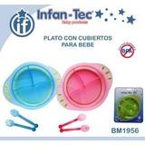 Set Plato, Cuchara Y Tenedor De Bebe Libre Bpa Infan-tec