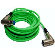 Cable Canon A Canon 90º Verde Fluo Por 6 Mts Balanceado Hamc