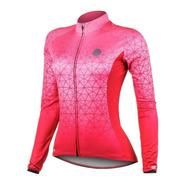 Camisa Ciclista Mtb Manga Longa Fem Mauro Ribeiro Weft Rosa