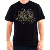 Camiseta Evangelica Jesus Luz Do Mundo