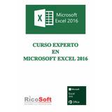 Libro Excel 2016 Experto + Avanzado D Tablas + Manual Av Dig