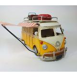 Combi Volkswagen Chapa Miniatura Decorativa Camioneta Escala