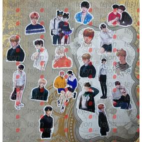 7 Stickers Bts - Kpop - Originales Coreanos Plastificados