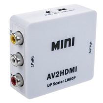 Mini Adaptador Convertidor Señal Rca - Hdmi 1080p 720p Tv