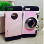 Case Capa Capinha Iphone 7 Camera Maquina Fotografica Pink